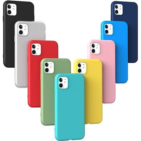 9X Coque iPhone 11, XinYue étui Silicone Ultra Mince Coque de Couleur de Sucrerie (9 Couleurs) - [ Noir Rouge Translucide Bleu Vert Menthe ...