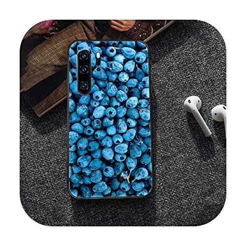 Caricaturas frescas lindas frutas teléfono caso cubierta casco para Huawei P8 P9 P10 P20 P30 P40 Lite Pro Plus smart Z 2019 negro Coque Trend-6-P10 Plus