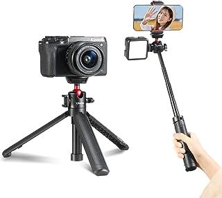 Ulanzi MT-16 カメラ三脚 4段延長 自撮り棒 MT-08の改良版 3WAY ホットシュー付き VLOG三脚 canon g1x mark iii canon g5x canon g7x canon g7x mark canon g7...