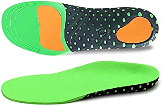 Shoe Inserts, Breathable Orthotic Insoles with Shock-Absorption Neutral Arch Support for Flat Feet Plantar, Fasciitis, Feet Heel Pain Relief Gel Cushioning Insoles for Men and Women, Sports Running