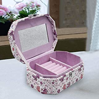 Kookee™ Jewellery Organizer Box with Mirror, 3 Section storage for Braclets, Necklaces, Earrings, Chains, Rings, Bangles, ...