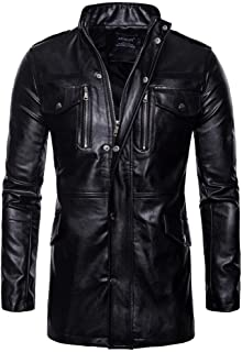 Kstare Steampunk Mens Jacket Leather Gothic Trench Parka Party Costume Tailcoat Men Black Coat Tops Plus Size M-5XL