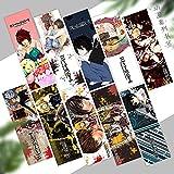 Anime Bookmark Card Secundaria para estudiantes Reading Regalo para Amigos Niños Niño Niña (10 Piezas)-Aviso de muerte_15 * 5 cm
