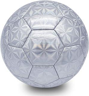 Champhox Kids Glitter Soccer Ball Size 4 with Ball Pump,...