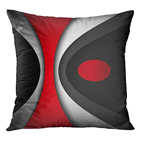 Black and Red Modern Throw Pillows: Amazon.com