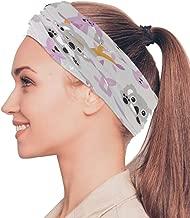 Kalamazoo Kangaroo Australia Elastic Headbands Head Wrap Shawl Sports Sweatband Face Mask Magic Scarf Hair Accessories Bands Ties for Women Girls Running Fitness Yoga