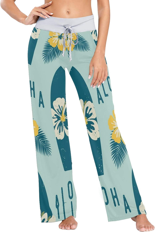 Brand Cheap Sale Venue MSACRH Pajama Pants for Women and Flowers Max 78% OFF Surfboard Sleepwear P
