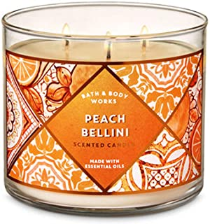 Bath & Body Works PEACH BELLINI 3-Wick Candle 14.5 oz / 411 g