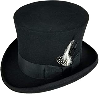Differenttouch 100% Wool Felt Top Hats Victorian Style Made Hatter 6