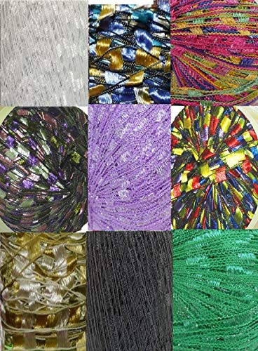 135 Yards 9 Colors Ladder Trellis Yarn for 9 Necklaces Mix lot (mix17AA0)