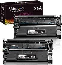 ValueColor Compatible Toner Cartridge Replacement for HP 26A CF226A Used in Laserjet Pro M402dn M402n M402d M402dw M402dne 402dn Laserjet Pro MFP M426dw M426dn M426fdw M426fdn 426 Printer (2 Black)