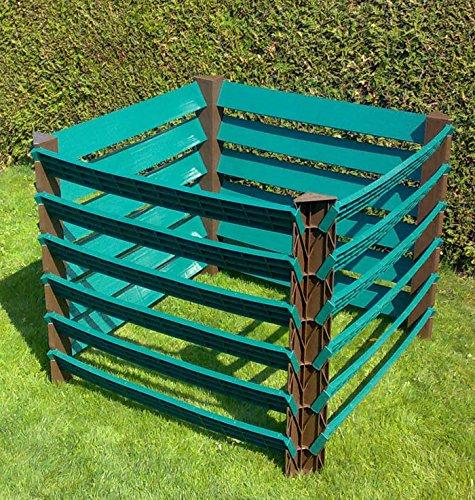 Compostiera professionale da giardino, in plastica, 1000 l, Compomp1000 l