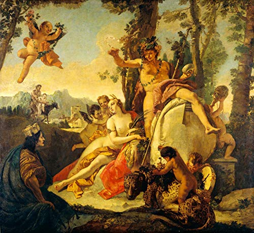 "Giovanni Battista Tiepolo Bacchus and Ariadne 1743-1745 National Gallery of Art Washington DC 24"" x 22"" Fine Art Giclee Canvas Print (Unframed) Reproduction"