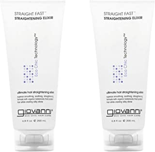 Giovanni Organic Straight Fast! Hair Straightening Elixir with No Parabens, No Sulphates, No Mineral Oil, No Colours, No P...