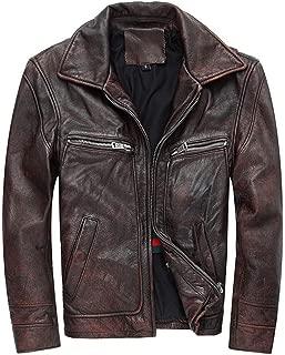 Mens Leather Biker Jacket Black Real Leather Coat Designer,Mens Real Soft Leather Antique Washed Black Vintage Zipped Smart Casual Biker Style Jacket