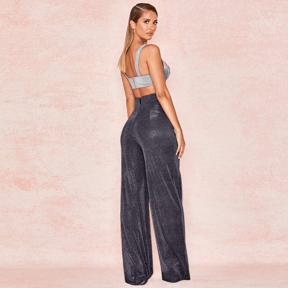 KTKZSS Femmes Taille Haute Vêtement Décontracté Pantalon Pantalon Pantalon Coupe Slim Noir