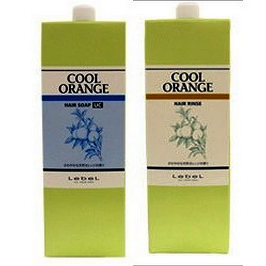 有彩色の構造的海洋Lebel ルベル クールオレンジヘアソープ ウルトラクール1600ml ヘアリンス1600ml 2本セット