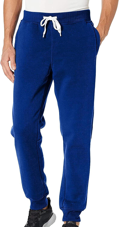 Burband Mens Pants Casual Elastic Waist Athletic Sweatpants Christmas Workout Jogger Soft Fleece Winter Lounge Pants Pajamas