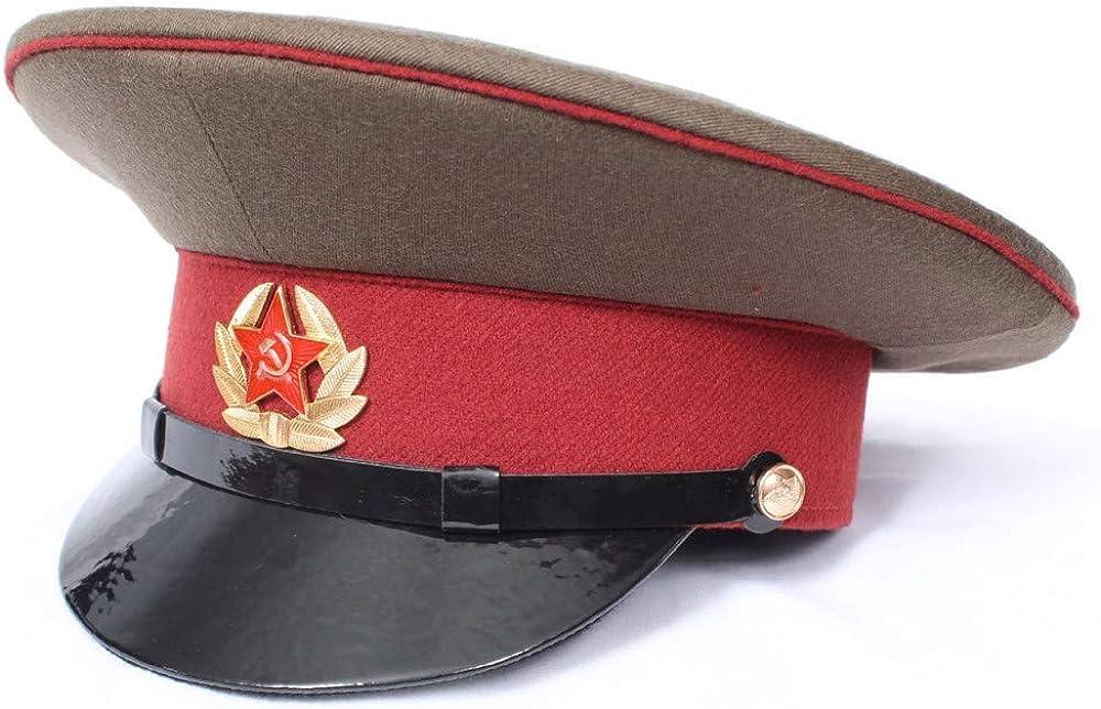 El Paso Mall Authentic Phoenix Mall Russian Internal Troops Officer Sovie Maroon hat Visor