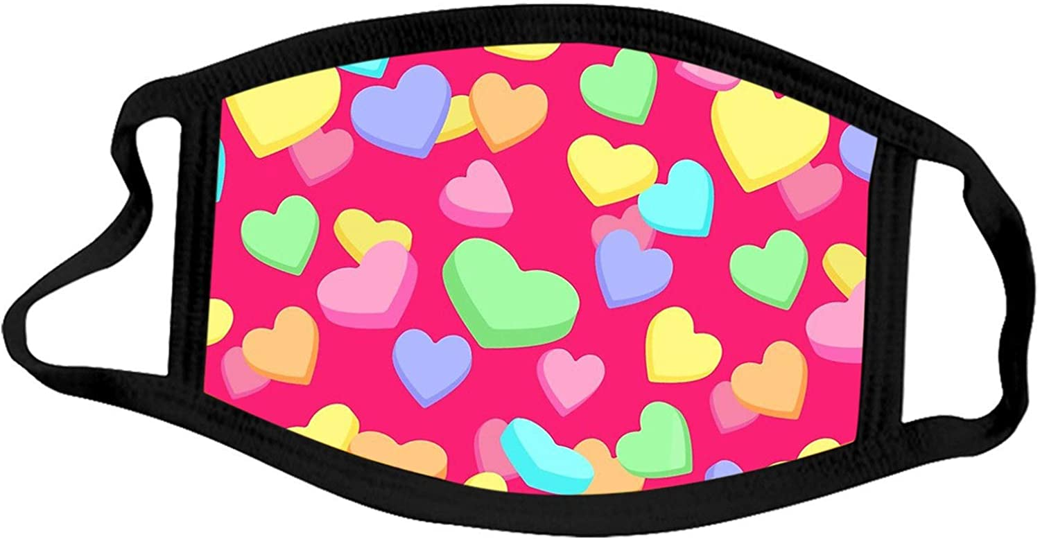 WOYAOFA Valentine's Day Cotton Face_mask for Adults Washable Reusable Cloth Printing Face Protection Fashion Balaclava