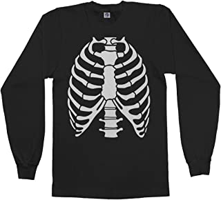 Men's Skeleton Rib Cage Halloween Costume Long Sleeve T-Shirt