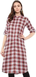 Uptownie Lite Women's Cotton Solid/Striped/Checked Kurti