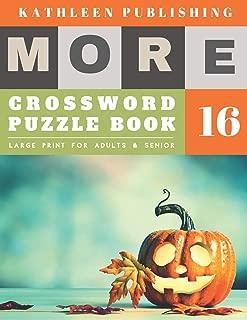 Crosswords Large Print: Large Print Crosswords Game | halloween pumpkin design (crossword books quick)