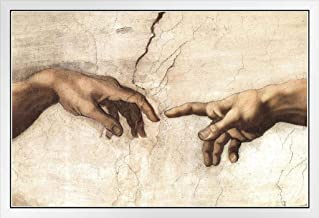 Michelangelo The Creation of Adam Fresco Painting Sistine Chapel Poster - 12x18 The Creation Adam Fresco Sistine Chapel Ce...