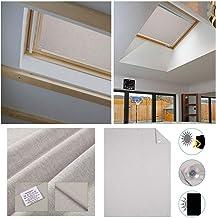 HDM 96 * 93CM Beige Bloque tragaluz estor para Velux ventanas de techo - Protector solar | Varios tamaños - Protección UV