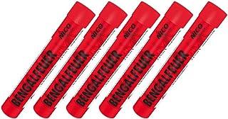 5 Stück Bengalfeuer rot Nico Feuerwerk Bengalos