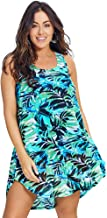 Swimsuits for All Women's Plus Size Polka Dot High Low Tunic Swimsuit Cover Up