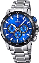 Festina Mens Chronograph Quartz Watch with Stainless Steel Strap F20352/2