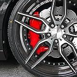 JOM 200000 Bremssattellack, Bremssattel Lackier- Set, rot, 1K-System, Bremssattellack 75ml, Bremsenreiniger 250ml, Pinsel und Handschuhe