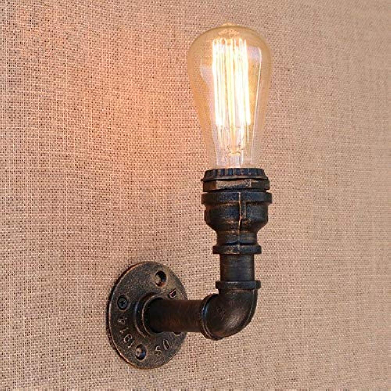 XY&XH Wandlampe, Loft Retro Eisen Wasserleitung Vintage Wandleuchte Nachttisch mit Edison LED Lampe E27 110V-220V Lichter für Restaurant Café Nachtlicht