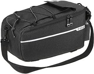 HEALTHLL Bicycle Bag Insulated Trunk Cooler Bag Cycling Bicycle Rear Rack Storage Luggage Bag Reflective MTB Bike Pannier Shoulder Bag Black