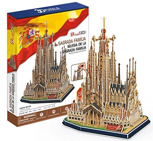 CubicFun- Puzzle 3D Sagrada Familia (CPA Toy Group Trading S.L. MC153H)