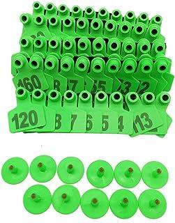 001-1000 Ear Tags Animal Identification Tags Livestock Cattle Sheep Pig Ear Mark (Green)