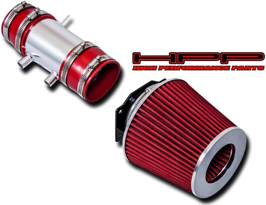 Miami Mall High Performance Parts Short Ram Air Red Max 90% OFF Kit Filter Intake Com