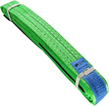 MroMax Lift Strap 2inch x 3.3ft Web Lifting Straps 4409lbs Capacity for Construction Rigging Moving Towing Hoisting Work Gear Green 1Pcs