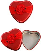 Kullan At Market Gülü Metalik Kalp Kutu, Kırmızı