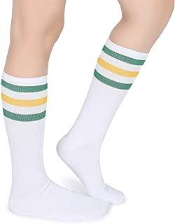 Classic Triple Stripes Soft Cotton On the Calf Retro White Tube Socks