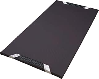 西川(Nishikawa) [AIR(エアー)] スリム マットレス ブラック シングル ベッドの上に1枚プラス 点で支える 持ち運び用 出張 遠征 HD07331621M
