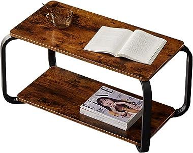 ローテーブル 収納棚付き センターテーブル コーヒーテーブル リビングテーブル アンティーク 北欧 西海岸 80*43*40cm
