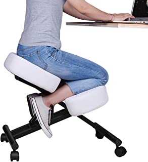 DRAGONN Ergonomic Kneeling Chair, Adjustable Stool for Home and Office – Improve..