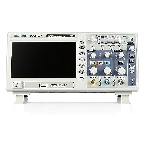 KKmoon Dso5102P Osciloscopio de Almacenamiento Digital Certificado 2Ch 100Mhz 1Gs 7