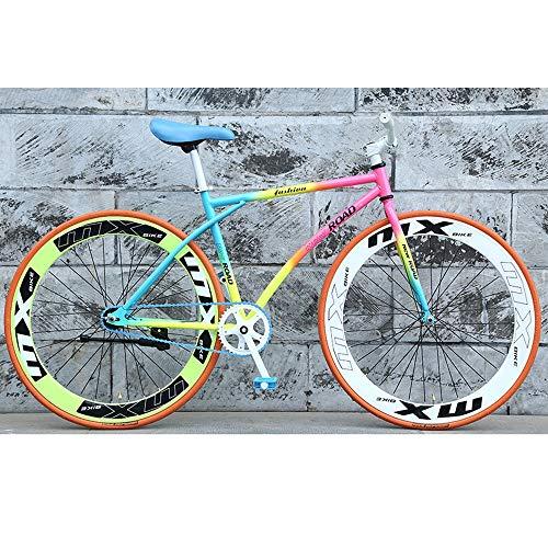 YXWJ 2020 Arco Iris Fresco Nueva Bici Ruedas de 26', Marco de Aluminio, Horquilla de suspensión, Unisex Excursión Bicicleta de montaña 26 Pulgadas MTB de la Bicicleta for el Adulto