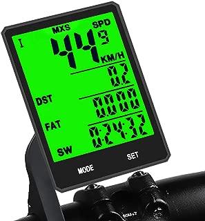 サイクルコンピュータ 自転車コンピューター ワイヤレス LCD防水 バックライト 簡単取付 走行距離計 サイクルコンピューター スピードメーター