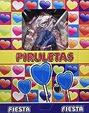 FIESTA Piruletas Pintalenguas Caramelo con Palo en Forma de Corazón Sabor Mora - Caja de 80 unidades
