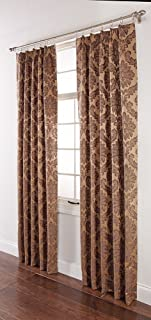 Stylemaster Renaissance Home Fashion Darby Pinch Pleated Drape Pair, 48 by 84-Inch, Gold