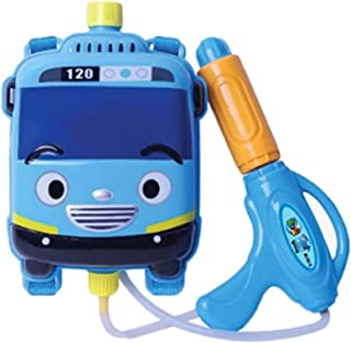 Tayo Backpack Water Gun Soaker Squirt Gun for Kids Korean TV Animation Character